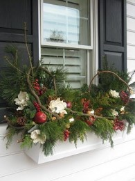 decorating window boxes for winter Beautiful Winter window box just add tiny white lights and they re